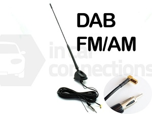 Adjustable angle in car DAB AM FM aerial Bee Sting Roof Mounted antenna CT27UV71