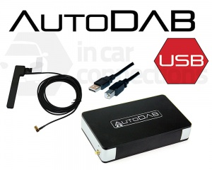 Universal DAB adapter for any car radio with USB port AUTODAB-USB Digital Stereo add-on