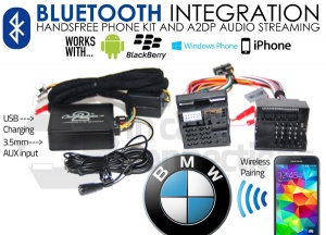 BMW Bluetooth adapter for streaming and hands free calls CTABMBT009 Quadlock connector