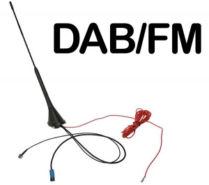 In car DAB aerial plus FM Bee Sting Roof Mounted antenna CT27UV53