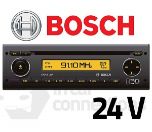 Bosch Calais USB40 multimedia 24v stereo radio CD player for bus lorry