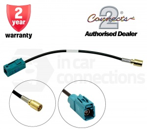 Car radio aerial adapter cable DAB female SMB to female Fakra CT27AA162