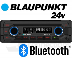 Blaupunkt Dakar 224 BT 24v radio with Bluetooth CD player USB MP3 AUX input for bus, lorry
