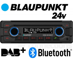 Blaupunkt Dubai 324 DAB BT 24v radio with DAB+ Bluetooth CD player USB MP3 AUX input for bus, lorry