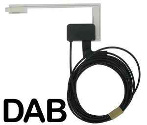 Universal Glass Mount in car DAB aerial antenna CT27UV52 AutoDAB AD-2