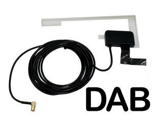 Universal Glass Mount in car DAB aerial antenna CT27UV62 AutoDAB SMB connector
