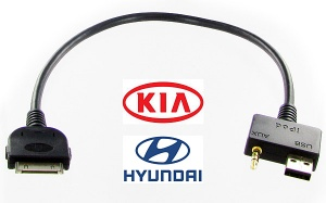 Hyundai and Kia iPod cable for 2009 onwards models CT29IP11