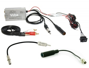 Jeep AUX adapter via Wired FM Modulator AVFM-MOD01 with Jeep aerial adapters