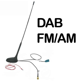 In car roof mount DAB AM FM aerial antenna CT27UV57 AutoDAB AD-7