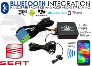 CTASTBT003 Seat Bluetooth adapter for handsfree calls and music streaming mini-ISO