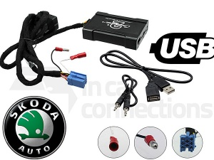 Skoda USB adapter CTASKUSB001 for Skoda Fabia Octavia Favorit and Superb with mini-ISO pre 2005