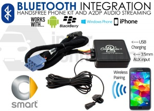 Smart Bluetooth adapter for streaming and hands free calls CTAMSBT001