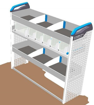 Sortimo pre-built van racking module for small vans