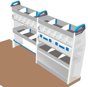 Sortimo pre-built van racking module - T1 Version 2A - Off Side