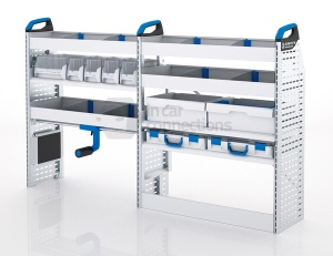 Sortimo Xpress TCSOS2 Racking for Ford Transit Custom, Short Wheel Base - Driver Side Option 2
