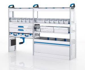 Sortimo Xpress VCSOS3 Van Racking for VW Volkswagen Crafter, Short Wheel Base - Driver Side Option 3