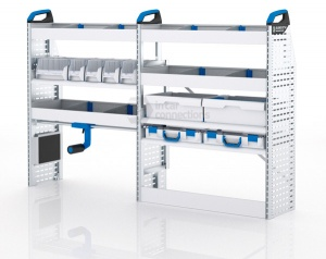 Sortimo Xpress TPSOS2 Van Racking for VW Volkswagen Transporter T5, Short Wheel Base - Driver Side Option 2
