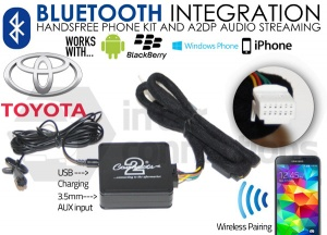 Toyota Bluetooth adapter for streaming and hands free calls CTATYBT002 2004 onwards